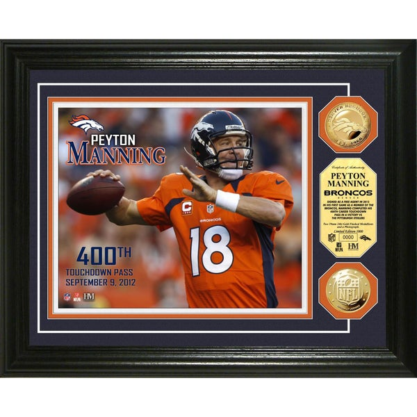 Peyton Manning 400th Career Touchdown Pass Gold Coin Photomint