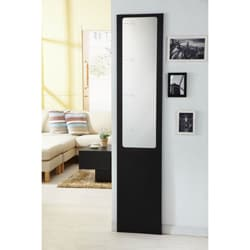 Furniture of America Mikko Black Finish Height Measurement Mirror