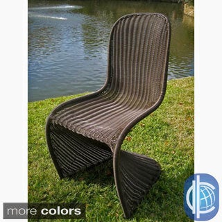 International Caravan Contemporary Resin Wicker Outdoor Chairs (Set of 2)