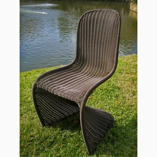 International Caravan Contemporary Resin Wicker Outdoor Chairs (Set of 4)
