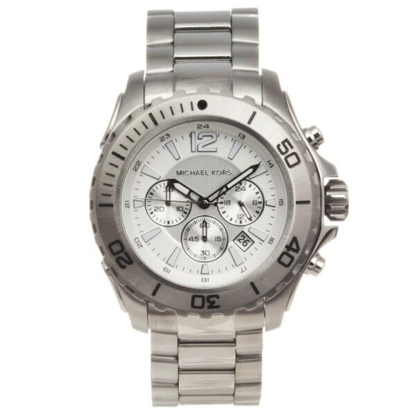 Michael Kors Men's Stainless Steel 'Drake' Chronograph Watch