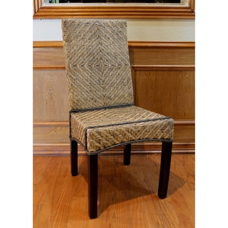 'Joseph' Rattan Peel Woven High Back Chairs (Set of 2)