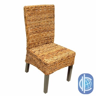 International Caravan 'Cebu' Twisted Abaca High Back Chairs (Set of 2)