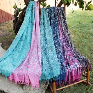 Handmade Rayon Batik Scarves