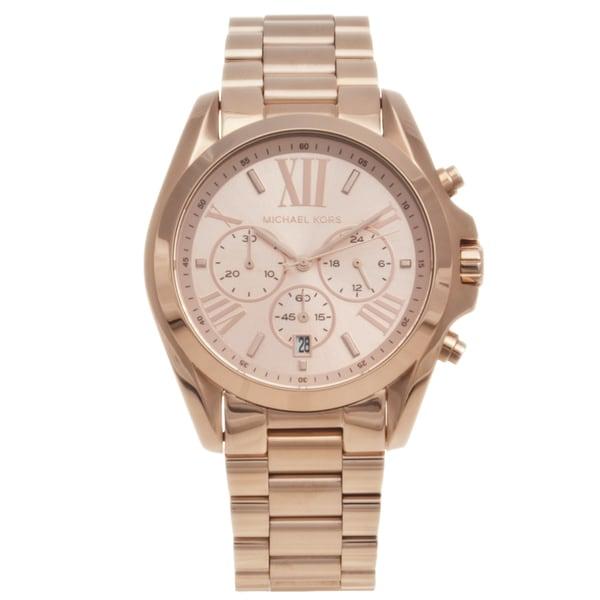 Michael Kors Women's MK5503 'Bradshaw' Rose Gold-Tone Chronograph Watch