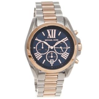 Michael Kors Women's MK5606 'Bradshaw' Rosetone Steel Chronograph Watch