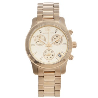 Michael Kors Women's MK5384 Gold-Tone 'Runway' Chronograph Watch