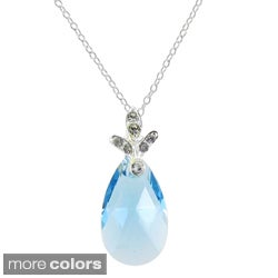 Sunstone Sterling Silver Faceted Pear-cut Necklace Made with SWAROVSKI ELEMENTS