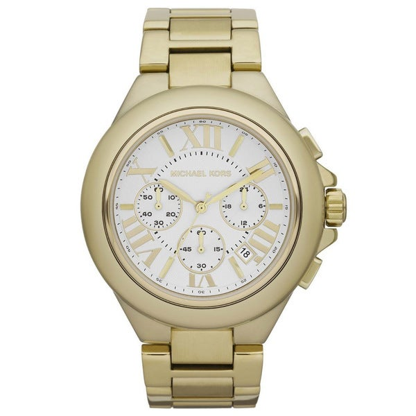 Michael Kors Women's MK5635 Camille Gold-Tone Chronograph Watch