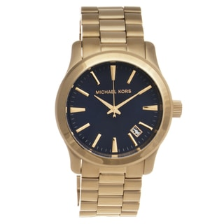 Michael Kors Men's MK7049 'Runway' Goldtone Watch