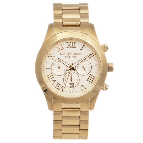 Michael Kors Men's MK8214 'Layton' Goldtone Chronograph Watch