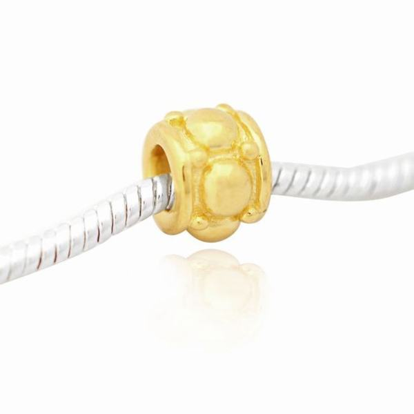 De Buman Goldplated Sterling Silver Charm Bead