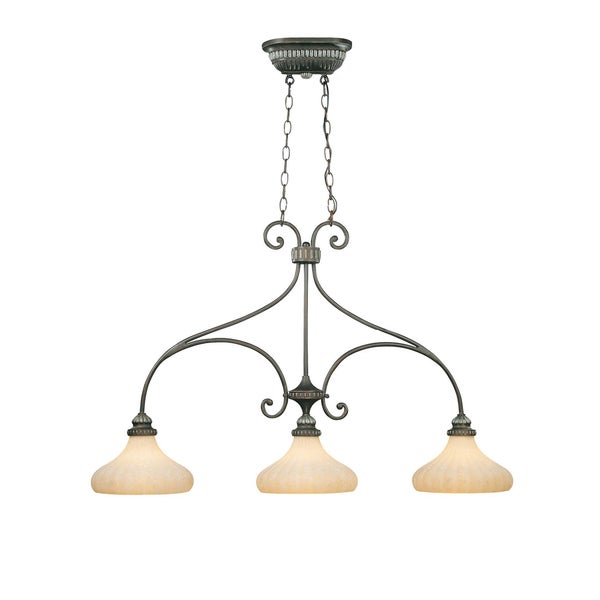 3-light oil Rubbed Bronze Island Pendant