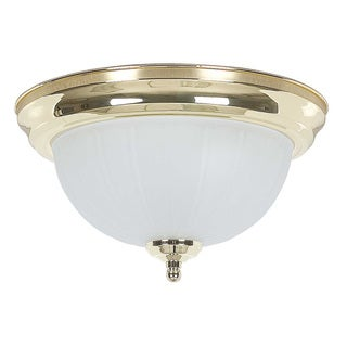 Frosted Glass One-light Flush Mount Light Fixture