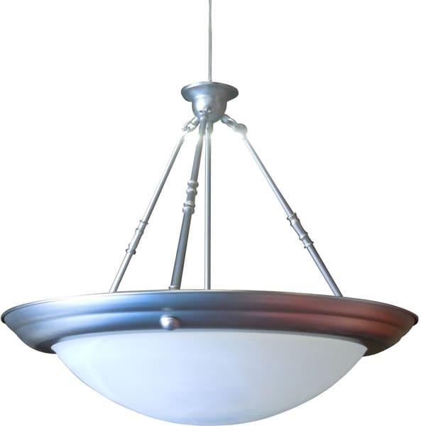 Satin Nickel Three-light Hanging Lamp