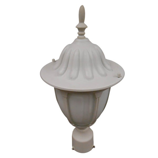 White One-light Post Lantern