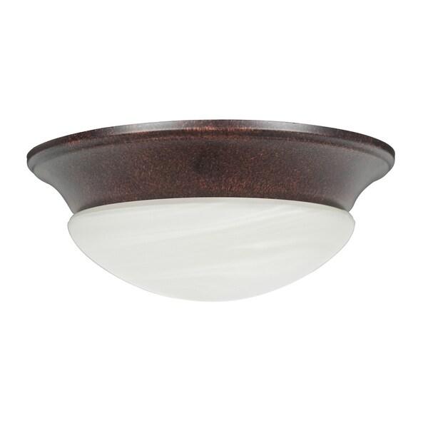 Rubbed Bronze Two-light Ceiling Fan Light Kit