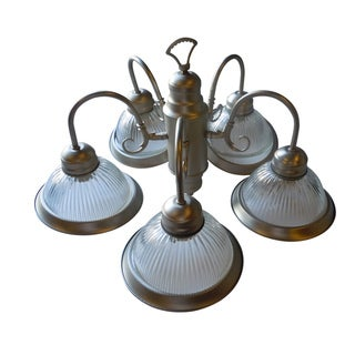 Satin Nickel Five-light Chandelier
