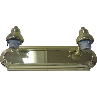 Polished Brass Two-light Vanity