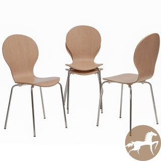Christopher Knight Home Toronto Natural Wood Chairs (Set of 4)