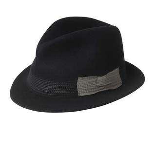 Baily of Hollywood Men's 'Raf' Black Cashmere Blend Hat
