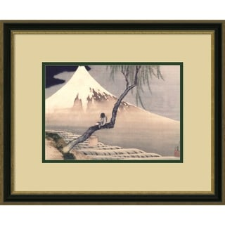 Katsushika Hokusai 'Boy On Mt. Fuji' 22 x 18-inch Framed Art Print