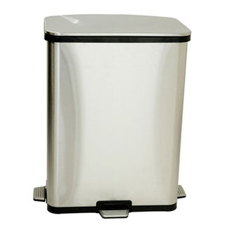 iTouchless 13 Gallon Stainless Steel Step-Sensors Trash Can