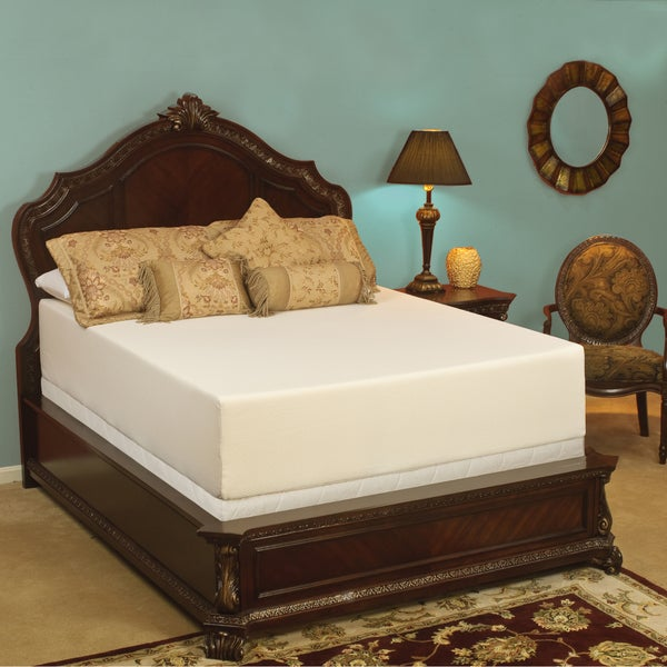 Select Luxury Medium Firm 14-inch King-size Memory Foam Mattress with EZ Fit Foundation