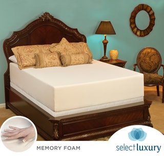 Select Luxury Medium Firm 14-inch Queen-size Memory Foam Mattress with EZ Fit Foundation