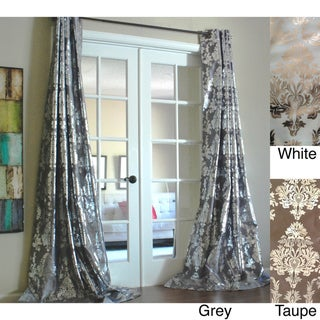 Amirah Intricate Damask Metallic Curtain Panel