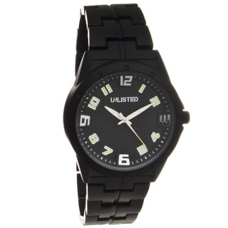 Unlisted by Kenneth Cole Men's Black Fashion Watch