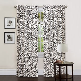 Lush Decor Silver 84-inch Ventura Curtain Panel