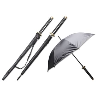 Samurai Handle 44-inch Span Umbrella - Hana (Flower)