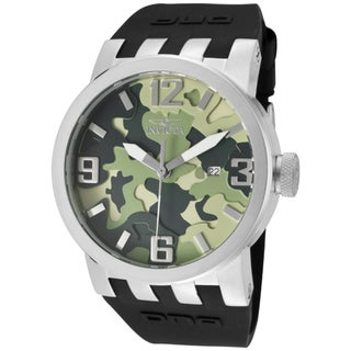 Invicta Men's 'DNA/Camouflage' Black Silicone Watch
