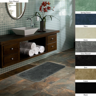 Plush 20 x 34 Non-skid Bath Rug (Set of 2)