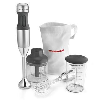 KitchenAid KHB2351CU Contour Silver 3-Speed Hand Blender