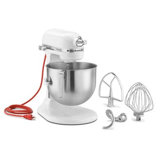 KitchenAid RKSM7990WH 7-quart White Commercial Stand Mixer (Refurbished) **plus Overstock $30 gift card**