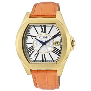 A Line Women's 'Adore' Orange Genuine Leather Watch