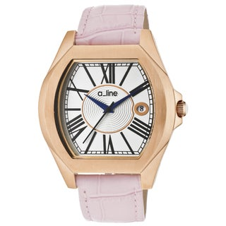 A Line Women's 'Adore' Pink Genuine Leather Watch