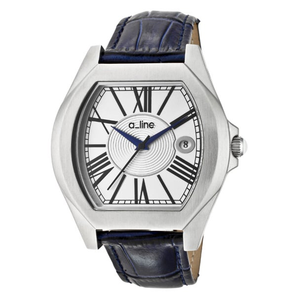 a_line Women's 'Adore' Blue Genuine Leather Watch