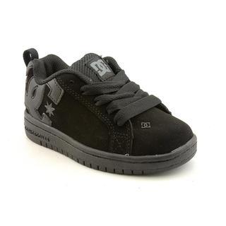 DC Boy's 'Court Graffik' Leather Athletic Shoe