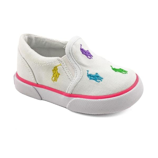 Polo Ralph Lauren Girl's 'Bal Harbour Repeat' Fabric Athletic Shoe