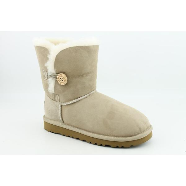 Ugg Australia Beige Girl's 'Bailey Button' Regular Suede Boots