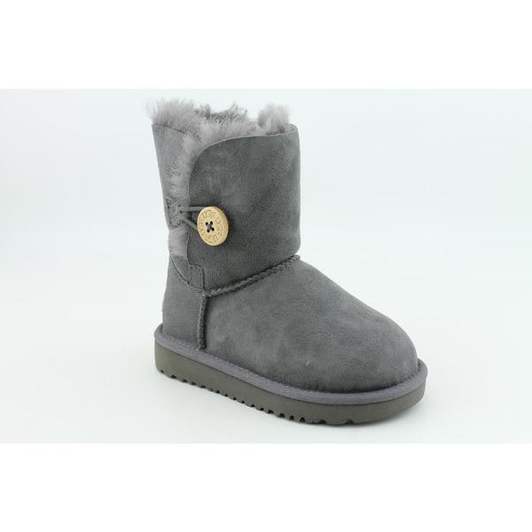 Ugg Australia Toddler 'Bailey Button' Regular Suede Boots