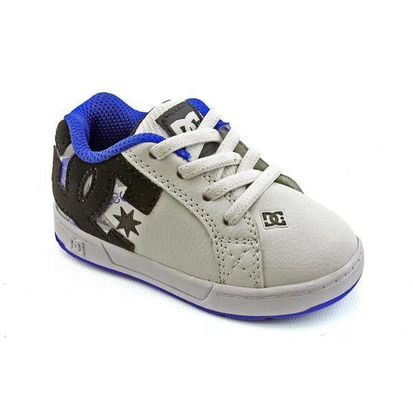 DC Boy's 'Court Graffik Elastic' Leather Athletic Shoe