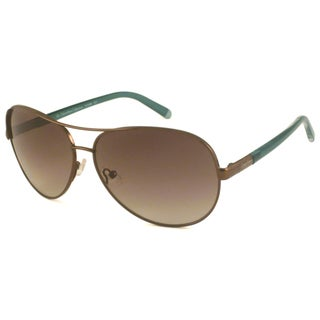 Calvin Klein Women's CK7309 Brown Aviator Sunglasses
