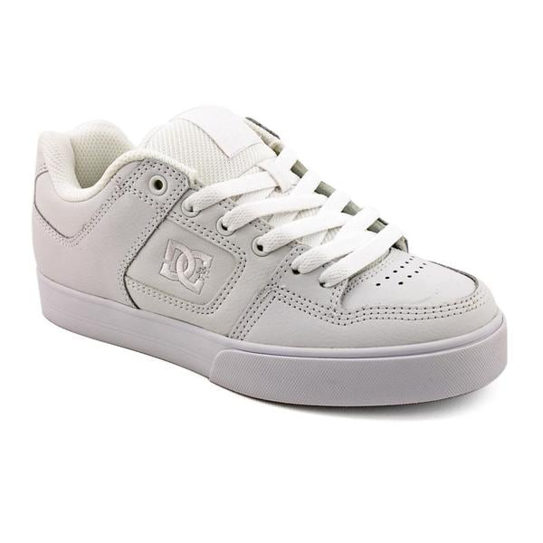 DC Boy's 'Pure' Leather Athletic Shoe (Size 5)