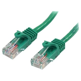 StarTech.com 5 ft Cat5e Green Snagless RJ45 UTP Cat 5e Patch Cable -