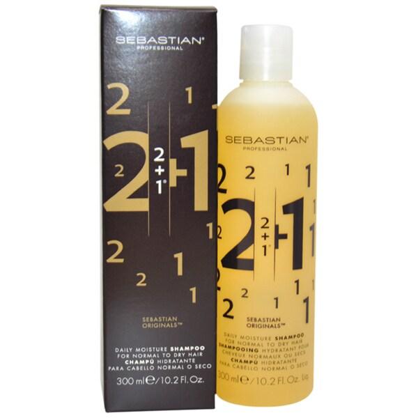 Sebastian 2 + 1 Daily Moisture 10.2-ounce Shampoo