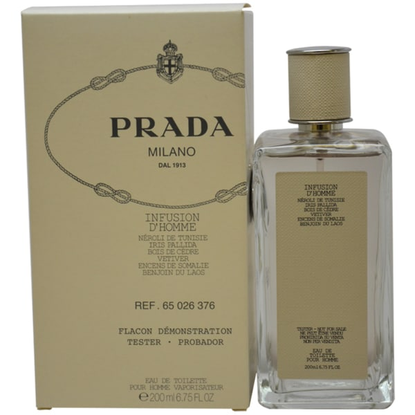 Prada Milano Infusion dHomme Men's 6.75-ounce Eau de Toilette Spray (Tester)
